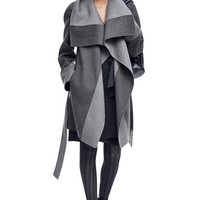 Diane von Furstenberg Two-Tone Cozy Coat & Accessories | Nordstrom