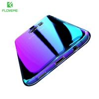 FLOVEME Blue Ray Cover For Samsung S8 Galaxy S8 Plus Case Transparent Clear Hard Cases For Samsung S7 S6 Edge Accessories Case