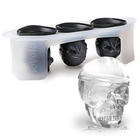 3 Skull Ice Cube Mold Set