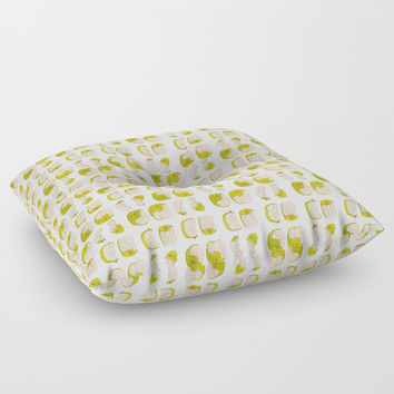 Eating process (Apple) // watercolor apple consumption Floor Pillow by Camila Quintana S