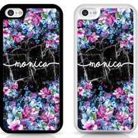 PERSONALISED black marble flower TPU Shockproof cover case for iPhone Samsung | eBay