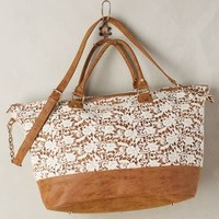 Waiola Weekender by Anthropologie in Ivory Size: One Size Bags