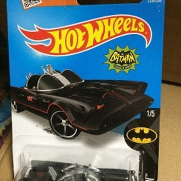 Hot Sale Hot Wheels TV SERIES BATMOBILE 226 250 Collection Metal Cars Hot Wheels Style Children's Educational Toys 1:64