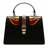 Gucci Black Sylvie Gucci Signature bag