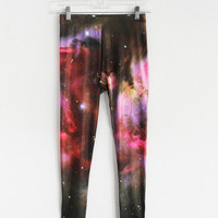 Milky Way Galaxy Leggings | fresh-tops.com