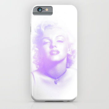 Marilyn Halftone iPhone & iPod Case by jcks