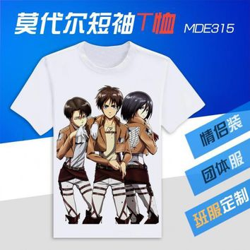 Cool Attack on Titan no   T-Shirt Novelty Fashion Anime OTAKU T Shirt Sexy Fun T-shirt cosplay costume Men&Women Shirt AT_90_11