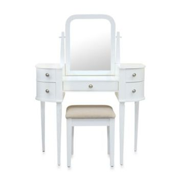 Lamont Home Chelsea Vanity Set in White