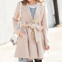 Cream Colored Long Sleeve Jacket