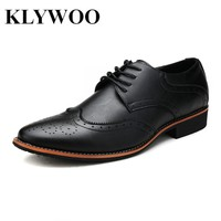 KLYWOO New Brogue Oxford Shoes For Men Dress Shoes Microfiber Leather Office Shoes Men Formal Shoes Zapatos Hombre Mens Oxfords
