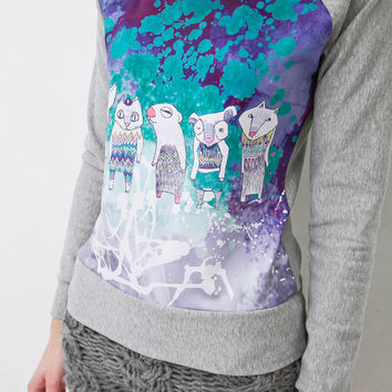 Carousel - short sweatshirt