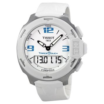 Tissot T-Race Touch White Analog Digital Dial White Synthetic Strap Mens Watch