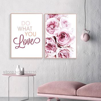 Peony Poster Flower Nordic Poster Tulip Rose Picture Cuadros Decoracion Wall Art Canvas Painting Posters And Prints Unframed