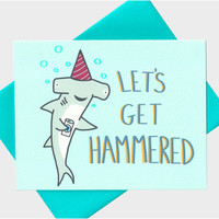 Let's Get Hammered Card