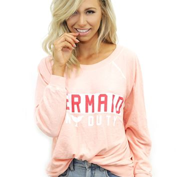 Wildfox Mermaid on Dut Kim Sweater in Grapefruit | Boutique To You
