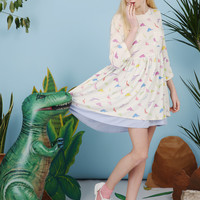 Dinosaur Smock Dress Multicolour