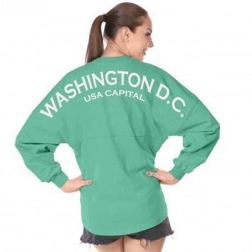 Washington D.C. USA CAPITAL - Classic Unisex Long Sleeve, Crew Neck Spirit Footb