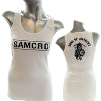 Sons Of Anarchy Samcro Juniors White Tank Top - Sons of Anarchy - | TV Store Online