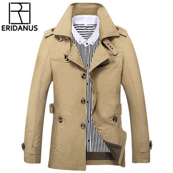 Trendy Jacket Men 2018 New Brand Wool Overcoat Thick Coats Casual Spring Outwear Military Jackets Man Cotton Mens Parka Plus Size X723 AT_94_13