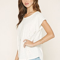 Fringed-Trim Tee