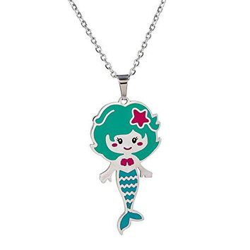 AUGUAU Vinjewelry Little Girls Beautiful Pendant Necklace for Children's Delicate Gift