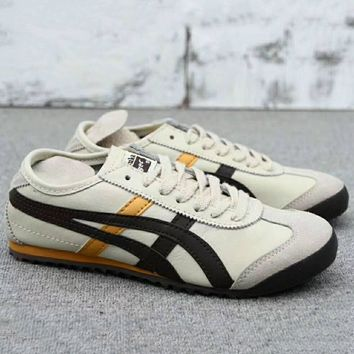 asics gel lyte onitsuka tiger women men running sport casual shoes sneakers beige black g a0 hxydxpf  number 1