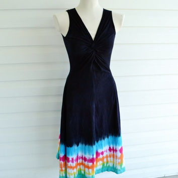 Tie Dye Dress, Summer Dress, Maxi Dress, Hippie Dress, Boho, Rainbow Dress