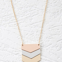 Pentagonal Pendant Necklace