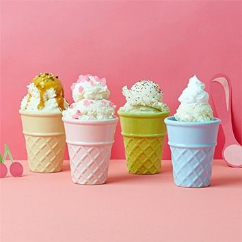 Ice Cream Cone Cups in Gift Box (Set of 4)