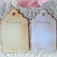 Wedding Favor DIY Vintage Inspired - Wish Tree - Place Cards - Escort Cards - Set of 200 - Cream or White