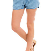 Junior Chambray Shorts