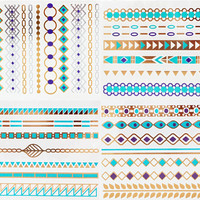 Turquoise Collection Metallic Tattoos Gold and Silver Flash By Modern Boho