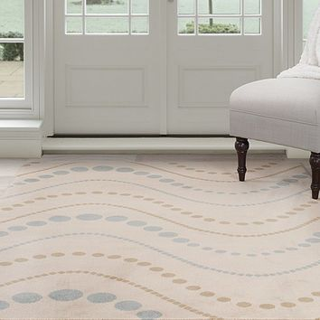 Lavish Home Modern Waves Area Rug - Beige - 3'3