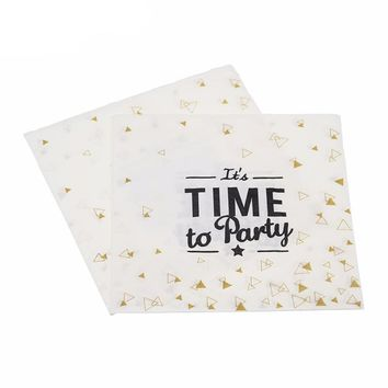 It's Time To Party Paper Napkins