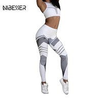 Work Out Elastic Leggings Women Printing Fitness Pencil Pants Female Casual Sweatwear Skinny Leggings