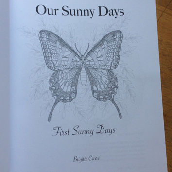 Adult Coloring Book Our Sunny Days, Nature coloring book, Hardcopy Coloring Book, Physical Coloring Book