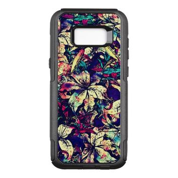 Modern Watercolor Dragon Lilies Flowers OtterBox Commuter Samsung Galaxy S8+ Case