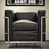 Wall Decal Ticket Stub Cinema Film Movie Theater Concert Admit One Festival