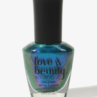 Iridescent Blue Nail Polish