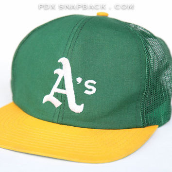 Oakland A's Vintage Snapback Hat - sports, california