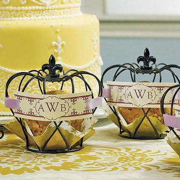 Small Wire Crown Wedding Favor Décor (Pack of 4)
