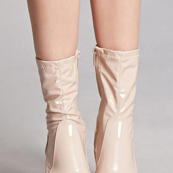 Patent Leather Sock Boots