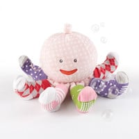 Baby Aspen Mrs. Sock T. Pus Plush Octopus with 4 Pairs of Socks