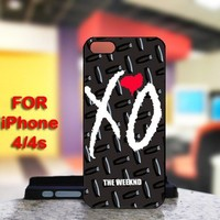 Xo Weeknd Logo For IPhone 4 or 4S Black Case Cover