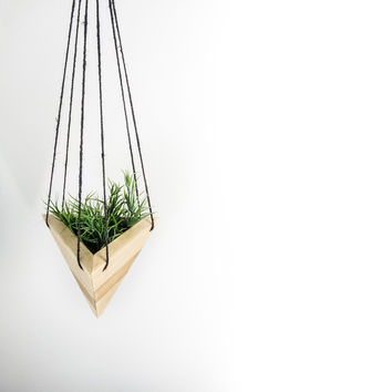 Geometric Hanging Planter - Maple Short