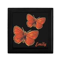 Red Gothic Butterfly Insect Bug Moth Nature Gift Box