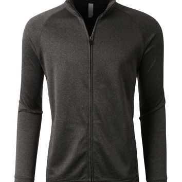 PREMIUM Mens Performance Moisture Wicking Zip Up Track Jacket