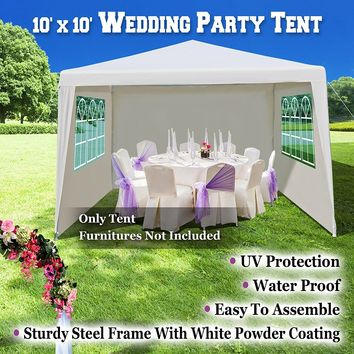 USA Wedding Party Tent 10'x10' Gazebo BBQ Pavilion Canopy Cater Events Outdoor Dancing Camping