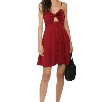 W.A.P.G. Knot Front Button Down Dress