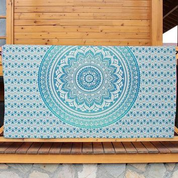 ESBU3C New!!!Bohemia Indian Mandala Tapestry Wall Hanging Tapestries Boho Bedspread Beach Towel Yoga Mat Blanket Table Cloth
